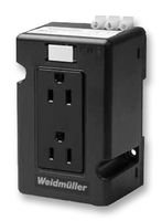 WEIDMULLER 6720005430 CONNECTOR, AC OUTLET, DUPLEX, RCPT, 15A, 120V