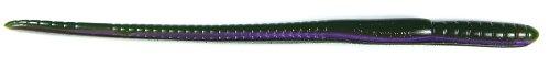 Roboworm Straight Tail Worm Bait (Xmas Purple Weenie, 7-Inch) -  SL-841X