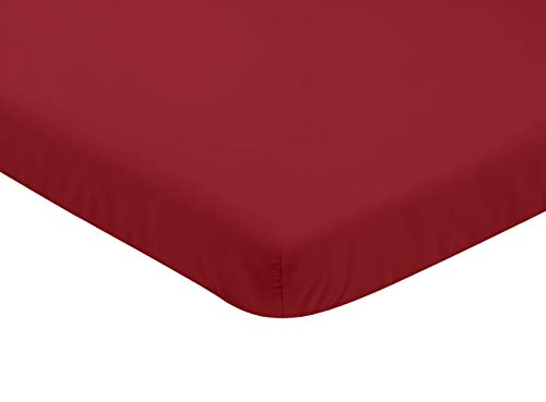 Sweet Jojo Designs Solid Red Baby Fitted Mini Portable Crib