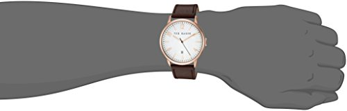 Ted Baker Men's 'Modern Vintage' Quartz Stainless Steel and Leather Dress Watch, Color:Brown (Model: 10030651)