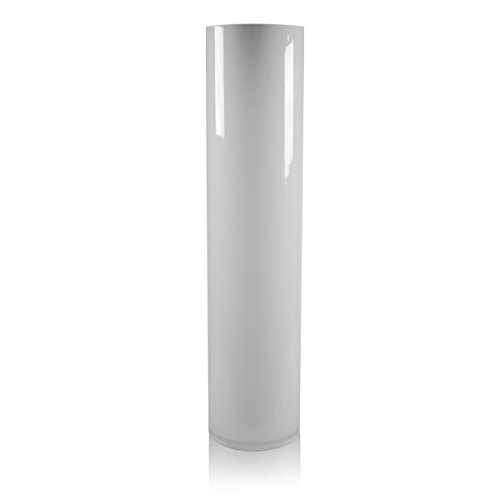 26 Inch Vases (CYS GCY122/26WT Hand blown Tall White Glass Cylinder Vase (1 Pack), 26