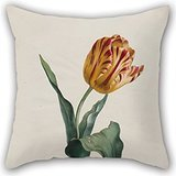 Pillow Cases Of Oil Painting Valentine Bartholomew - Tulip,for Study Room,her,dance Room,lover,kitchen,chair 20 X 20 Inches / 50 By 50 Cm(two Sides)