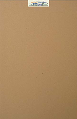 - 100 Brown Kraft Fiber 28/70# Text Paper Sheets - 12