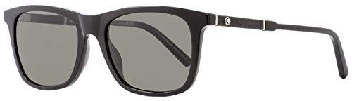 Sunglasses Montblanc MB 606S MB606S 01D shiny black / smoke ()