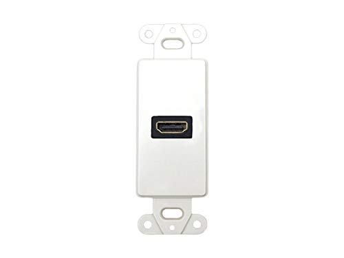 - Monoprice Décor Wall Plate Insert with 90-degree HDMI Connector, White