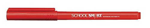 School Smart Felt Tip Pens - Pack of 12 - Red