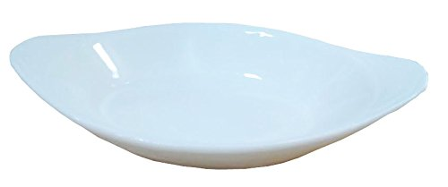 6 Pcs Oval Super White Porcelain Baking Dishes (6.5
