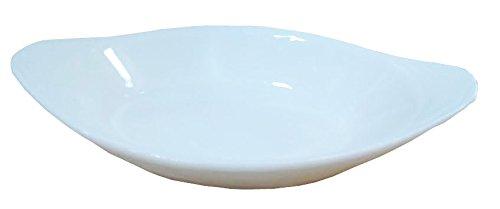 6 Pcs Oval Super White Porcelain Baking Dishes (6.5