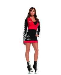 Car Race Halloween Costume Woman Driver (Elegant Moments Women's High Speed Hottie, Black/Red,)