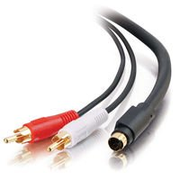 C2G 02309 Value Series S-Video + RCA Stereo Audio Cable, Black (6 Feet, 1.82 Meters) - Value Series S-video Audio