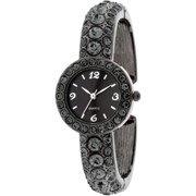 Women's Crystal Bangle Watch, Smokey Grey