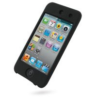 PDair Luxury Silicone Case for Apple iPod Touch 4th (8GB/32GB/64GB) (Black)