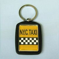 Kurt Adler Photo Key Chain W/nyc Taxi Des by Kurt Adler