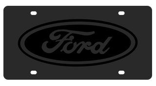 Ford Eurosport Daytona- Compatible Oval on Carbon Steel License Plate - Oval License Plate