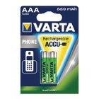 Varta 2 x Prof. Phone Power Akku Micro AAA 1,2 V 800 mAh T398