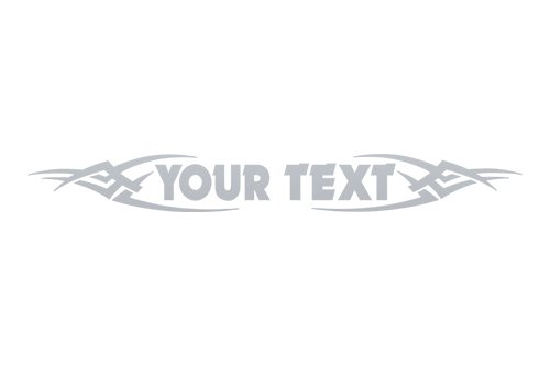 Sticky Creations - Design #106 Your Custom Text Personalized Customized Lettering Tribal Windshield Decal Sticker Vinyl Graphic Rear Back Window Banner Car Truck SUV | 36