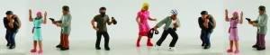 Model Power - Working People/Pedestrians -- Crime Scenes Figures - N (Model Figures Ho Power People)