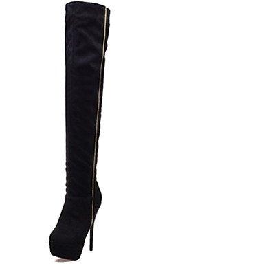RTRY Zapatos De Mujer Stiletto Talón Puntera Redonda Plataforma Over-The-Knee Boot Más Colores Disponibles Negro Us8.5 / Ue39 / Uk6.5 / Cn40 US8.5 / EU39 / UK6.5 / CN40