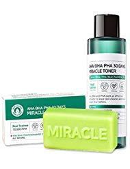 Ifactory SomeByMi Aha.Bha.Pha 30Days Miracle Toner 150ml (5oz) x2 Pcs Set Anti-acne Exfoliation Hydration Brightening (Toner + Bar)