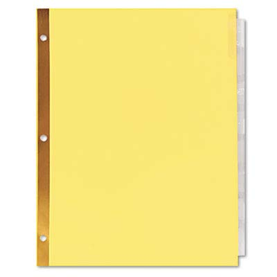 Universal One Extended Insert Indexes, Eight Clear Tabs, Letter, Buff, 24 Sets/Box (20891)