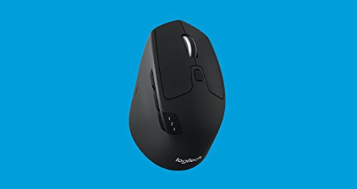 Logitech M720 Triathalon Multi-Device Wireless Mouse – Easily Move Text, Images and Files Between 3 Windows and Apple Mac Computers Paired with Bluetooth or USB, Hyper-Fast Scrolling, Black