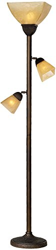Floor Mission Lamp Torchiere (Champagne Glass Torchiere Floor Lamp)