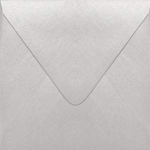 - Stardream Silver 5 x 5 Euro Flap Square Envelope - 250 Envelopes