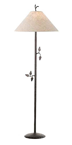 Stone County Ironworks Leaf Floor Lamp, Hand Rubbed Pewter 205654-OG-142839-O-759722