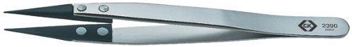 C.K T2390 130mm CarbofibESD Tweezers by C.K