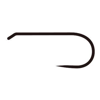 river peak D-Series Fly Hooks Fine Wire/Barbless RWH-D100 Made in Japan (Black) (Size 8-50 Pack) -
