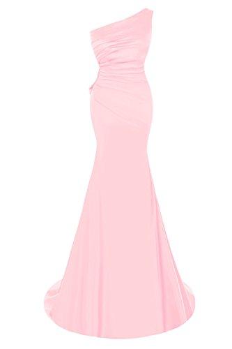 Bridal Bess Appliques Dresses Evening One Blushing Prom Mermaid Elegant Pink Women's Shoulder fHrAxwqHd