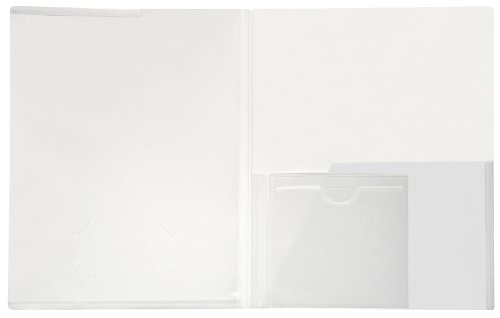 Lion Clear Plastic Presentation Folders with CD pocket, 2 EA/Pack, 1 Pack (52100-CR)