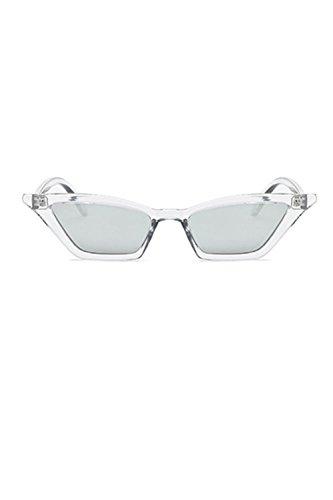 Sol Cateye Gafas De Gafas Las De Marco Retro Estrecho Las De Silver Suvotimo RSUwFqx4O