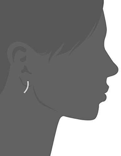 Amazon Collection Women's Cubic Zirconia Climber Stud Earrings