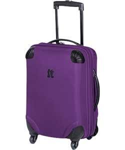 IT Frameless Medium 4 Wheel Suitcase - Purple (114512877): Amazon ...