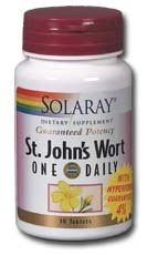 Solaray One Daily St. John's Wort Supplement, 900 mg, 60 Count (Pack of 3)