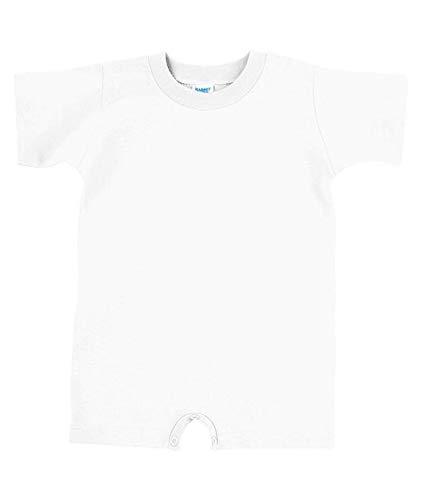 (Rabbit Skins 100% Cotton Infant Baby Fine Jersey T-Romper [Size 6 Months] White Jersey Onesie)