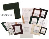 Logan Graphic Products, Inc. Palettes Pre-Cut Mats rectangle smooth black 16 in. x 20 (Logan Matboards)