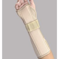 (Florida Orthopedics Perforated Suede Finish Wrist & Forearm Splint, Beige, Left Large 8 length by BSN Medical)