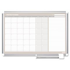 -- MasterVision Monthly Planner, 36x24, Silver Frame