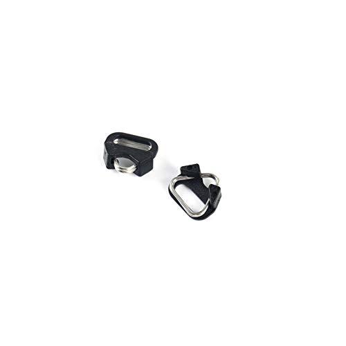 ((2 Pair) VKO Lug Ring Camera Strap Triangle Split Ring Hook + Plastic Cap Compatible for All Brand D-SLR Rangefinder Mirrorless Camera W/Round Eyelet)
