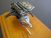 1956 Maserati 300S Engine with Display Showcase 1/18 by CMC 110