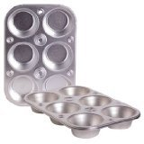 6-cup Metal Muffin / Cupcake Pan Toaster Oven Size - 3 Pack (Metal Muffin Tin)