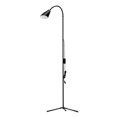 (LED Floor Lamp, Dimmable LED Reading Lamp for Living Room, Torchiere Floor Lamp,Modern Tall Standing Pole Uplight Light for Living Room, Dorm, Bedroom, Office, Reading, Protect Eye (Black))