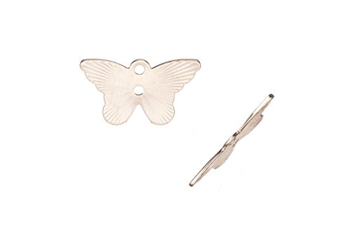 Laser Charm, Radian Butterfly Rhodium-Finished Brass 8.5x14mm sold per pack of 20 (2pack bundle), SAVE $1