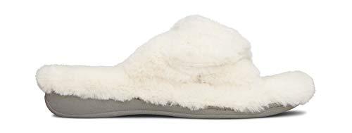 Vionic Women's Indulge Relax Plush Slipper Ivory 7 M US