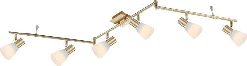 LED Deckenstrahler 6 Flammig Messing Deckenspot Deckenlampe Bewegliche Spots Flurlampe Deckenleuchte Deckenbeleuchtung Schlafzimmerlampe