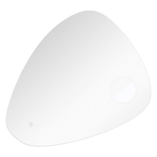 Transolid TLMC3132 Carter Specialty Vertically Mounted LED-Lighted Frameless Contemporary Wall Mirror with Touch Sensor - Fits 32-in. Vanity, 32-in W x 32-in H, - Vanity Carter Light