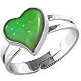 Inspiration Hear Shaped Mood Ring Can Change The Color And Adjustable The Size