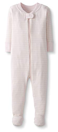- Moon and Back by Hanna Andersson Baby/ Toddler One-Piece Organic Cotton Footed Pajama, Pink, 2T
